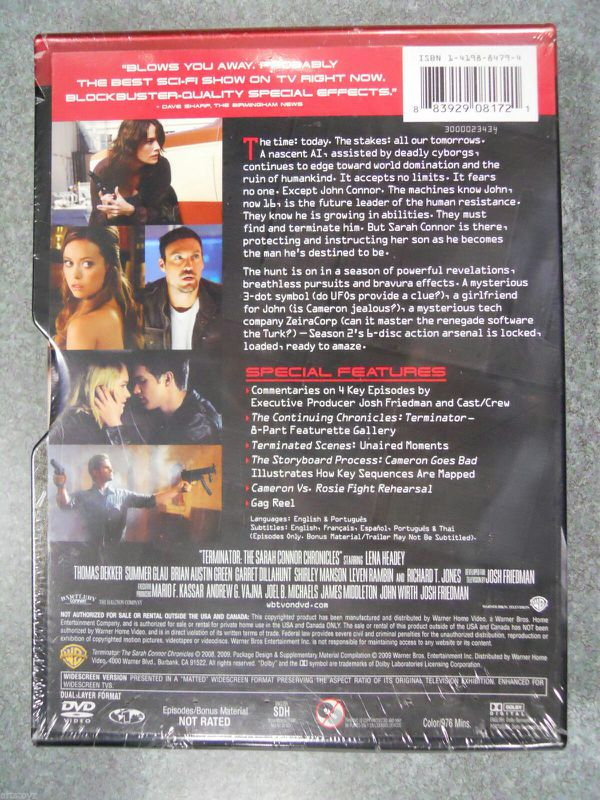 Terminator The Sarah Connor Chronicles Second Season 2 Steelbook New