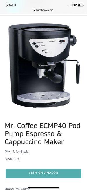MR COFFEE ESPRESSO AND CAPPUCCINO MAKER for Sale in San Antonio, TX