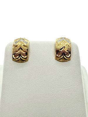 18kt italian Gold Hoop earrings for Sale in Los Angeles, CA