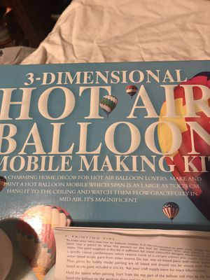 Hot air balloon DIY mobile painting set for Sale in Cuyahoga Heights, OH