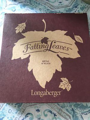Longaberger Falling Leaves Plate for Sale in Gunpowder, MD