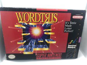 Wordtris Super Nintendo cib for Sale in Corona, CA