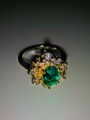 Emerald stainless steel ring SZ 7 new for Sale in Lawton, OK