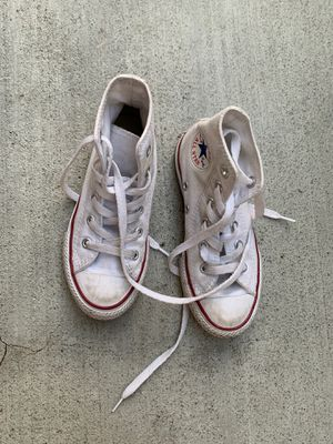 White high top converse for Sale in San Jose, CA