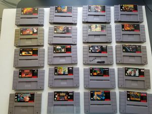 Lot 20 Super Nintendo games for Sale in Kent, WA