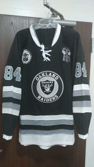 Raiders adult Large Hockey jersey for Sale in Boston, MA