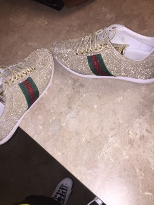 Gold Gucci sparkling shoes for Sale in Dallas, TX