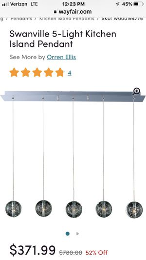 Pendant light (5 lights) halogen. New in box! for Sale in Willoughby, OH