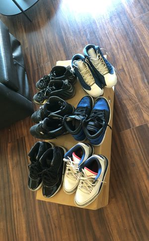 Air Jordan 11 (Spacejam), 13(Flint), 1(Royal 2017 release), 8(chrome), 3(TrueBlue) for Sale in Los Angeles, CA