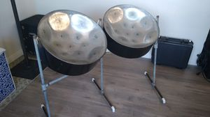 Double-Tenor steel drums with stand and case for Sale in San Diego, CA