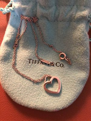 Authentic Tiffany Heart Shaped Pendant Necklace for Sale in Wrentham, MA