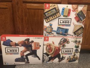 Brand New Nintendo Switch Labo Kits. Less than 1/2 Retail Price for Sale in East Providence, RI