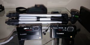 Lumix digital cameras- one waterproof + case+ tripod package for Sale in Charlottesville, VA