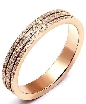 Rose Gold Tungsten Carbide Wedding Bands Ring for Men Women Stainless Steel Sandblasted size 7 for Sale in Queens, NY
