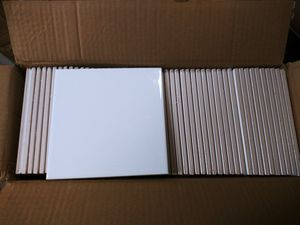 NEW 6x6 bright white tile (11 boxes) for Sale in Pickerington, OH