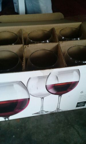 Wine glasses- set of 6 for Sale in Winchester, VA