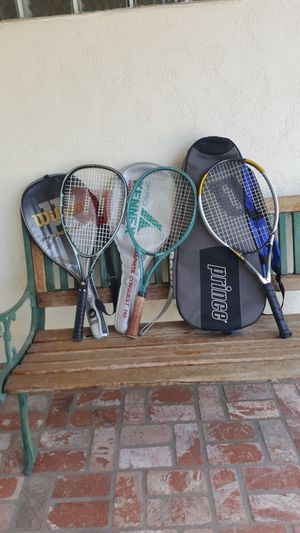 3 Tennis Rackets with bags, Balls & Ball Carrier. for Sale in Anaheim, CA