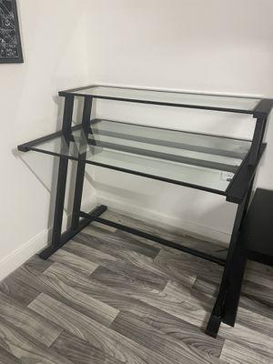 Black Glass Desk! for Sale in Dallas, TX
