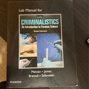College Lab Book For Criminalistics for Sale in Bismarck, ND