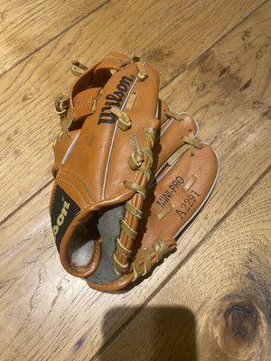 "2 gloves- kids- 9"" Wilson & 9 1/2"" Franklin - baseball softball for Sale in Costa Mesa, CA"