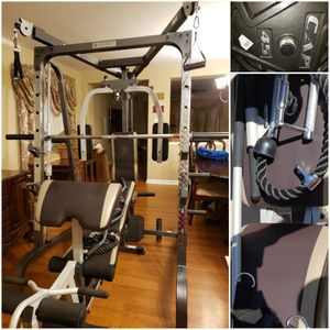 Marcy MD-9010G Smith Machine Home Gym w/ Weights. CAN DELIVER & SETUP. PRICE FIRM. for Sale in Houston, TX