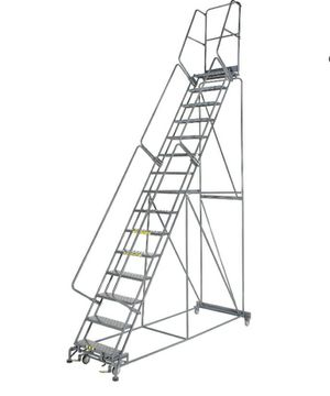 Cotterman 19 step rolling ladder w/ standing platform for Sale in Von Ormy, TX