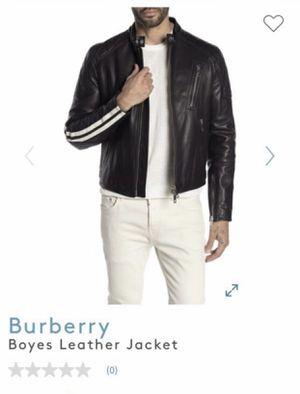 Burberry men's leather biker jacket M,$2495 new for Sale in Kent, WA