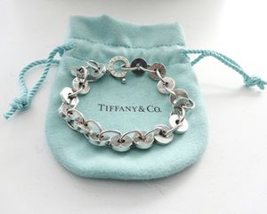 "Authentic Tiffany Co. 1837 Sterling Silver Circle Link Bracelet (7.25""/medium) for Sale in Alexandria, VA"