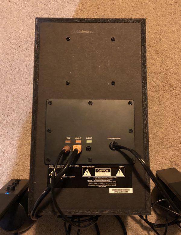 Altec Lansing 3 Piece Speaker System (Model VS4121)