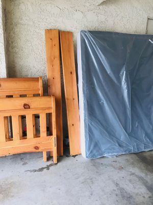 Full Bed frame and new spring box for Sale in La Verne, CA