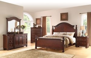 Beautiful new 3 piece Queen Antoinette bed set (1 queen bed, 1 dresser, 1 tall chest) only 800$!!! Original price 2,600$!!! for Sale in Oakland, CA