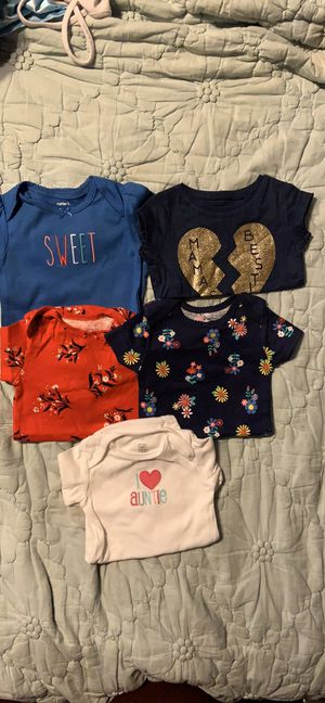Carters 6mo baby girl tops for Sale in Lynnwood, WA