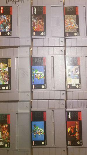 Super Nintendo games(9) for Sale in West Valley City, UT