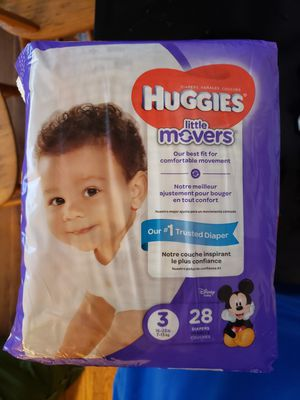 3 PACKAGES DIAPERS HUGGIES LITTLE MOVERS SIZE 3 for Sale in Adelphi, MD