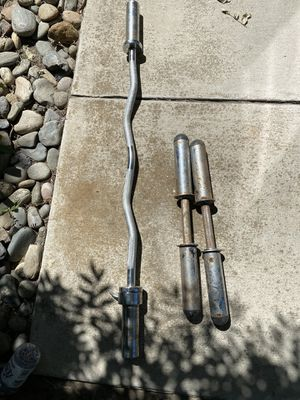 Curl bar and dumbbells for Sale in Lathrop, CA