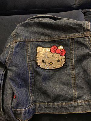 2t hello kitty jean jacket 🐱 for Sale in Virginia Beach, VA