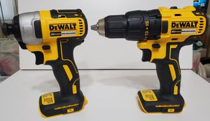 DeWalt combo of driver drill DCD777 & impact drill DCF787 BARE TOOLS READ AD ENTIRELY, FIRM PRICE!!! for Sale in Lake Worth, FL