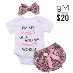 Pink/Floral 3pc Baby Set 👶 for Sale in La Mirada,  CA
