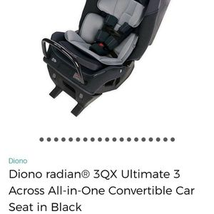 New Diono 3qx Convertible Car Seat for Sale in Fresno, CA