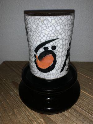 Vintage Uwajimaya Crackle Porcelain Sake Tea Cup Brush Pot Vase Japan for Sale in Citrus Heights, CA