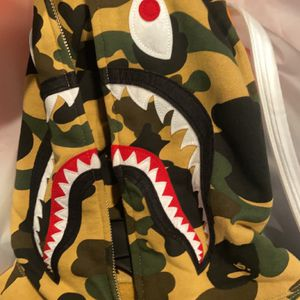Bape Hoodie Yellow Camo 100% Authentic for Sale in Stockton, CA