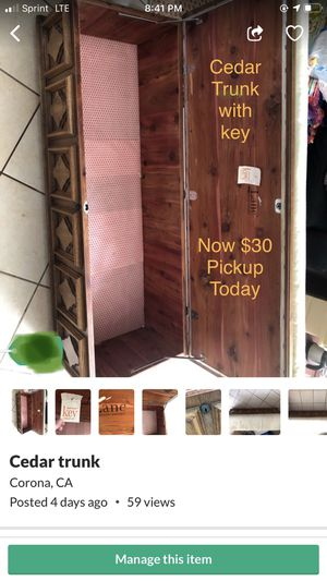 Cedar trunk for Sale in Corona, CA