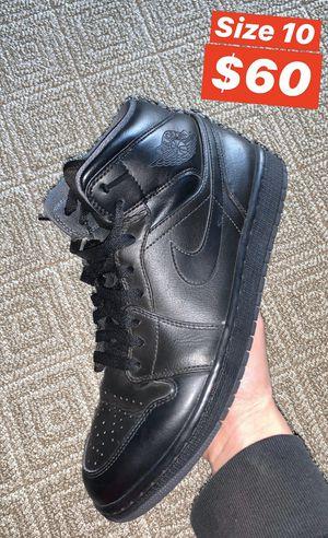 Jordan 1 Mid Triple Black - Size 10 for Sale in Pacifica, CA