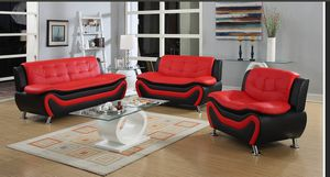 Brand New Red/Black 3pc. Sofa set for Sale in Austin, TX