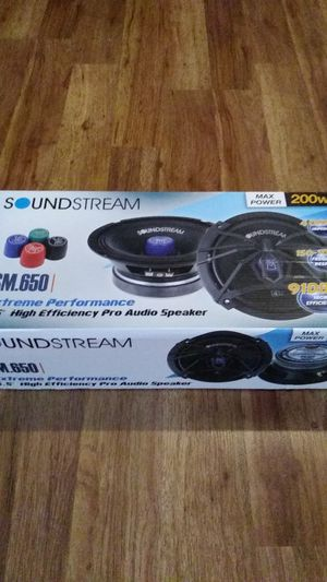 Soundstream sm650 pro speakers 6.5 speakers for Sale in Inglewood, CA