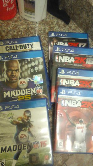 7 PS4 games for Sale in Lakewood, CA