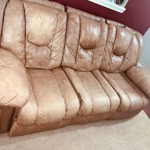 Tan leather Couches for Sale in Knightdale, NC