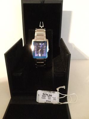 Bulova Mens Watch Links included Worn only once Perfect condition Box included for Sale in Riverside, CA