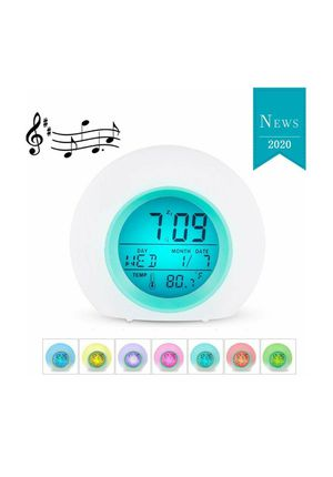 (L12) Kids Alarm Clock for Bedroom with 7 Color Changing, LED Digital Backlight, Alarm, Snooze, Indoor Temperature for Sale in Industry, CA