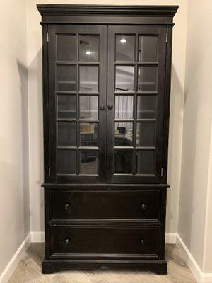 Custom Black Wood Hutch for Sale in Henderson, NV